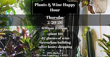 Plants and Wine Happy Hour