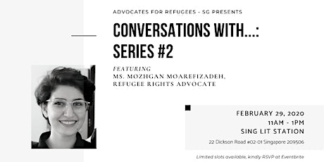 Conversations With...: Series #2 feat. Mozhgan Moarefizadeh tickets