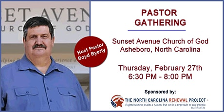 Pastor Gathering-Asheboro, NC tickets