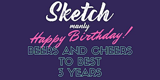 Happy Birthday Sketch Manly