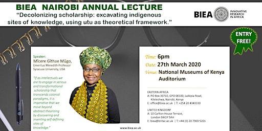 BIEA Nairobi Annual Lecture