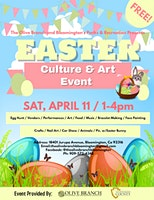 FREE! The Olive Branch Easter, Culture & Art Event