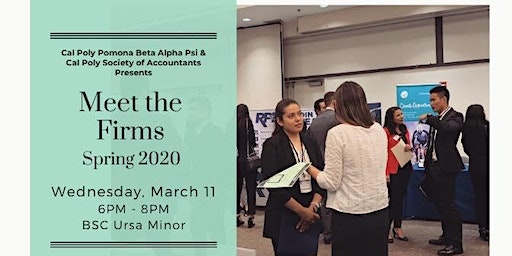 Cal Poly Pomona Spring Meet the Firms 2020 (Students)