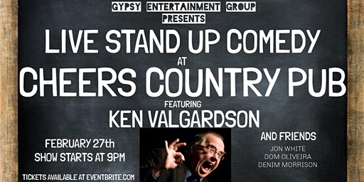 Live Stand Up Comedy at Cheers Country Pub