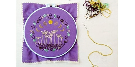 Embroidery 101 with Kira Dulaney - Absolute Beginner Hand-Sewing Class, Ages 8+ (04-26-2020 starts at 11:30 AM) tickets