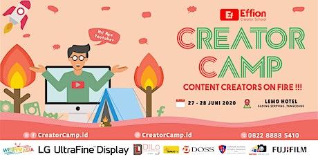 [PAID EVENT] Creator Camp : Belajar menjadi Content Creator (Menginap 2D1N) tickets
