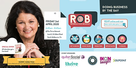 RoB Keynote Speaker: Kerry Boulton - Get Ready for Your Million Dollar Pay Day tickets