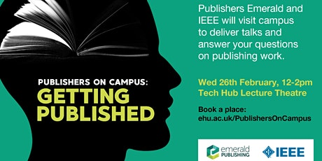 Publishers on campus: getting published tickets
