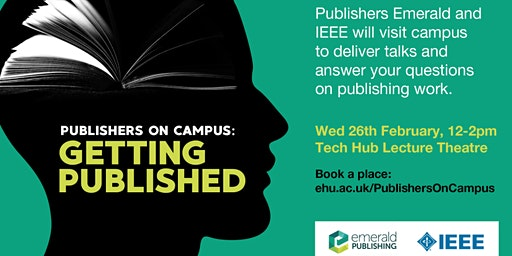 Publishers on campus: getting published
