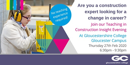 Teaching in Construction - Insight Evening