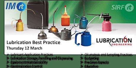WA Master Class - Lubrication Best Practice. tickets
