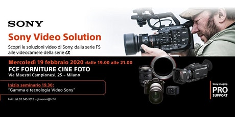SONY VIDEO SOLUTION biglietti