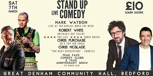 Stand up Comedy with Headliners Mark Watson and Robert White