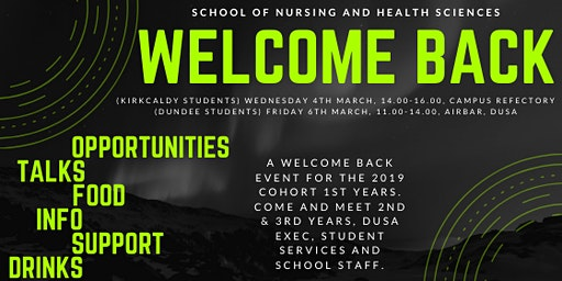 Dundee Welcome Back Event for 1st Year Nursing Students