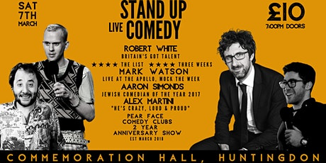 Stand up Comedy with Headliners Robert White & Mark Watson tickets