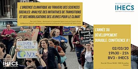 Analyse des initiatives de transition et action des jeunes pour le climat tickets