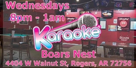 Karaoke @ Boars Nest - Rogers AR tickets