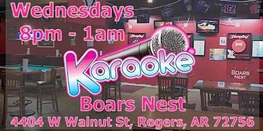 Karaoke @ Boars Nest - Rogers AR