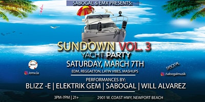 Sundown Vol. 3 Yacht Party (Newport Beach)