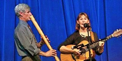 Joy Lewis and Derrick Hughes - multi-instrumentalist folk duo in concert