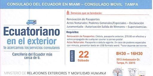 Consulado Móvil Ecuatoriano en Tampa