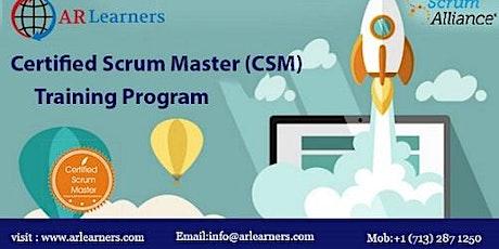 CSM Certification Training in Richmond, VA, USA tickets