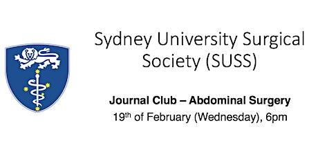 SUSS Journal Club - Abdominal surgery tickets