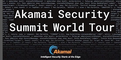 Preregister for 2020 Akamai Security Summit Stockholm with Akamai Founder and CEO, Tom Leighton tickets