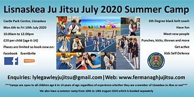 Lisnaskea Ju Jitsu July 2020 Summer Camp