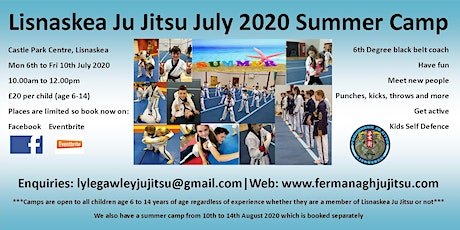 Lisnaskea Ju Jitsu July 2020 Summer Camp tickets
