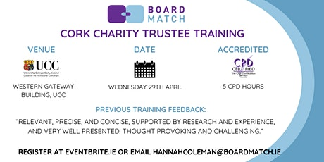 Boardmatch: Cork Charity Trustee Training (CPD Certified) tickets