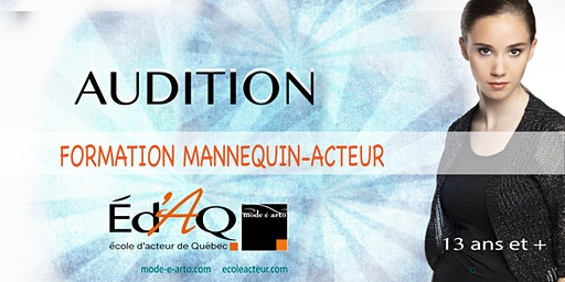 Audition Mannequin-Acteur