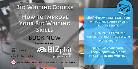 Bid Writing - How to Improve your Bid Writing Skills tickets