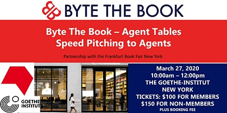 Byte The Book Agent Tables - Speed Pitching to Agents tickets