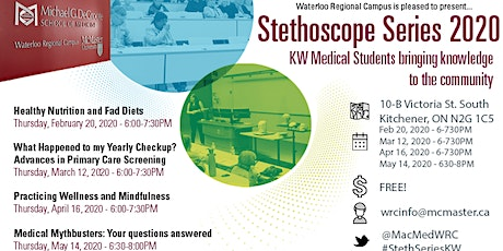 2020 Stethoscope Series - KW Medical Students Bringing Knowledge to the Community tickets