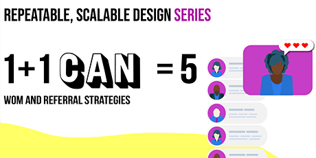 Repeatable, Scalable Design: 1 + 1 CAN = 5 tickets