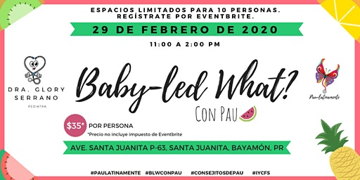 Baby-led What? en la oficina de Dra. Glory Serrano TANDA AM