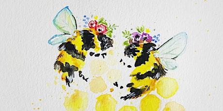 Boho Bee Watercolour Workshop tickets