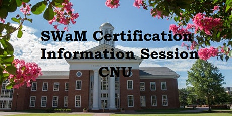 SWaM Certification Information Session CNU tickets