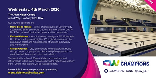 Coventry and Warwickshire Champions Event - March