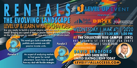 Rentals: Learn What's CHANGED in The EVOLVING Landscape at Level Up Atlanta tickets