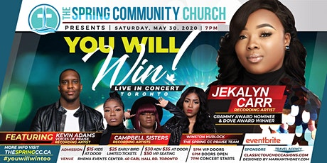You Will Win Live! with Jekalyn Carr tickets