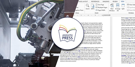 Prepare Your Book for Printing on the Asquith Press tickets
