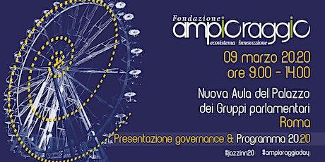 Fondazione Ampioraggio: presentazione governance e programma 2020 biglietti