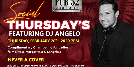 Social Thursday with DJ Angelo