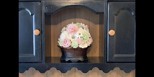 Wood Flower Centerpiece