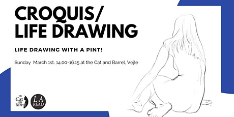 Croquis/Life drawing with a pint tickets