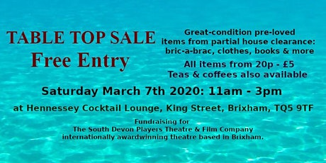 20p-£5 Tabletop SALE fundraising for theatre productions tickets