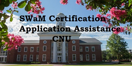SWaM Certification Application Session CNU tickets