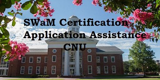 SWaM Certification Application Session CNU